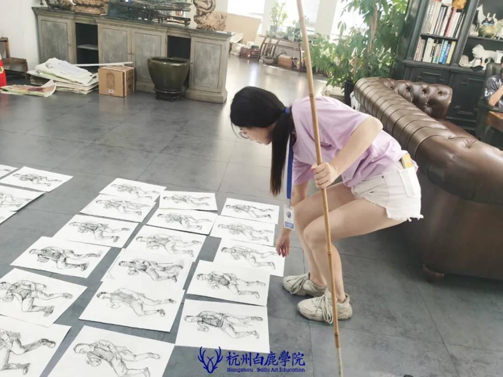 杭州白鹿日常 | 你说艺考美术生考大学很容易?你来试一试,58