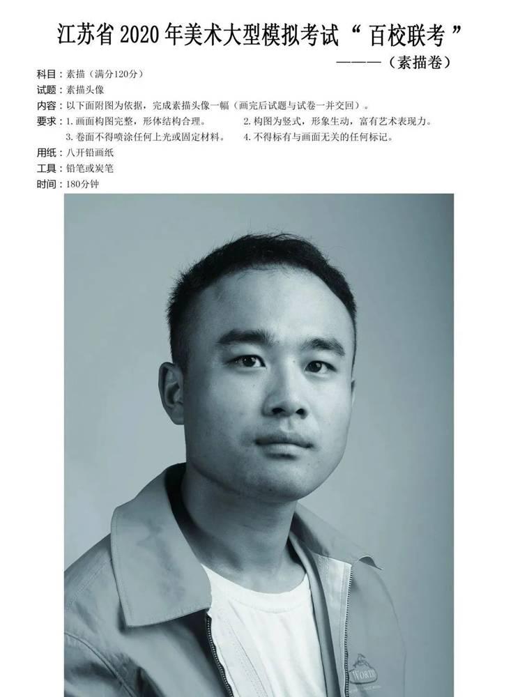 杭州美术培训班带你看21届江苏美术联考一模试卷,01
