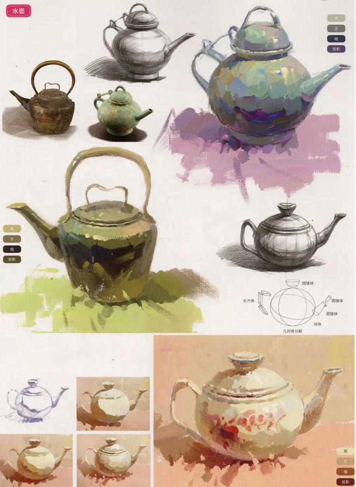 陶瓷、玻璃,金属这些难画的物品,杭州艺考画室给你解析,05