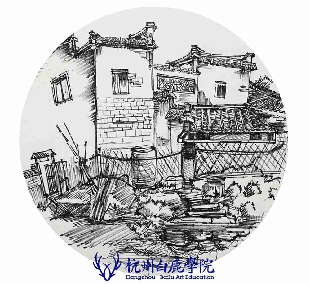 杭州艺考画室写生季 | 杭州白鹿学院下乡写生通知及注意事项,87