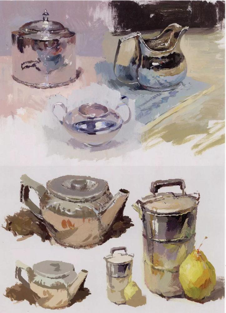 陶瓷、玻璃,金属这些难画的物品,杭州艺考画室给你解析,20