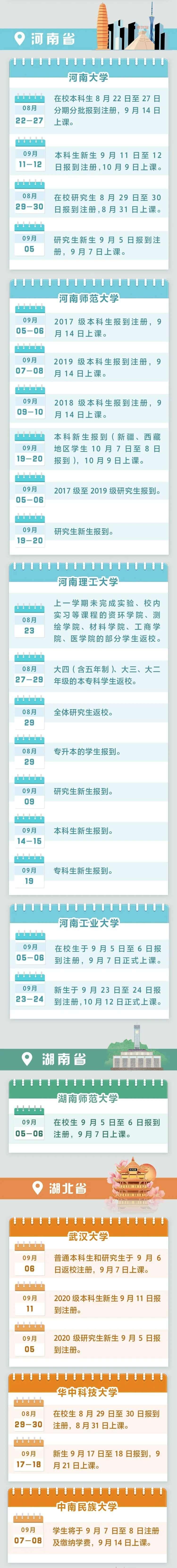 杭州艺考画室快讯|最新!全国各高校开学时间汇总来啦,06