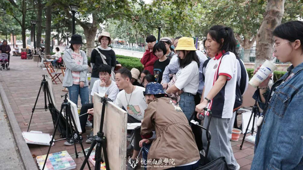 杭州艺考画室白鹿写生季 | 秋天的第一场写生未完待续,14