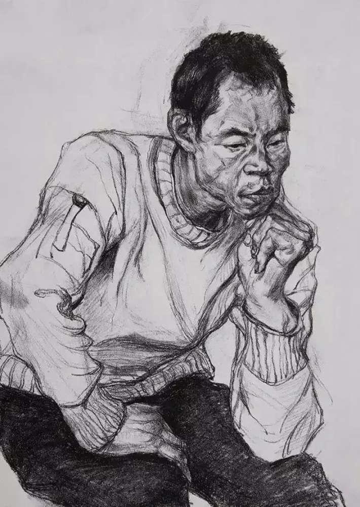 杭州艺考画室给大家整理了央美高分卷-素描、色彩、速写,09
