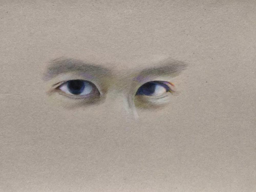 杭州艺考画室彩铅教程|画一双男神的眼睛,14
