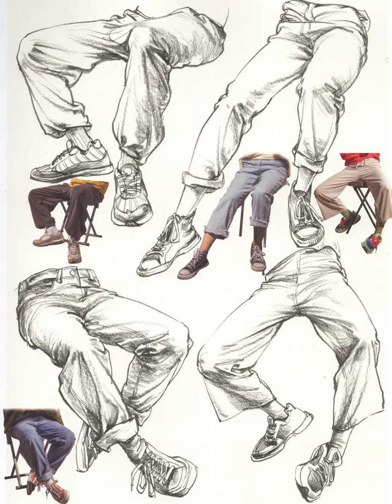 杭州艺考画室超强干货丨速写下肢怎么画?观察是关键,13