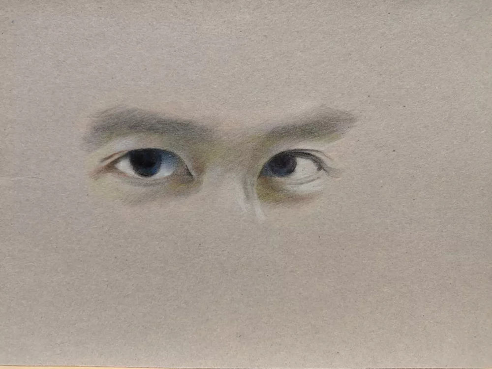 杭州艺考画室彩铅教程|画一双男神的眼睛,10