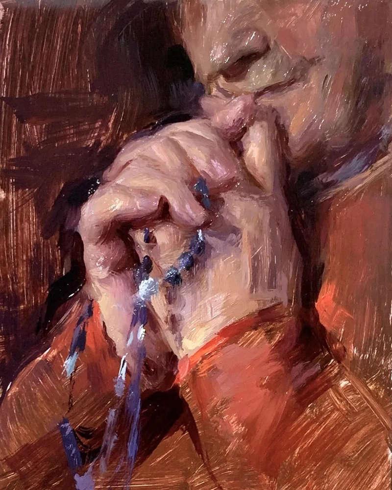 杭州艺考画室色彩教程:画头像,人物神态一定要到位,11