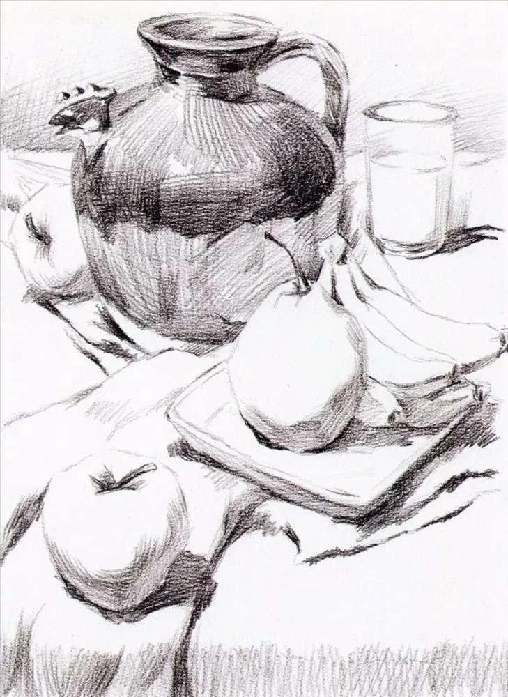 静物素描太难,杭州艺考画室整理的详细教程在里面,14