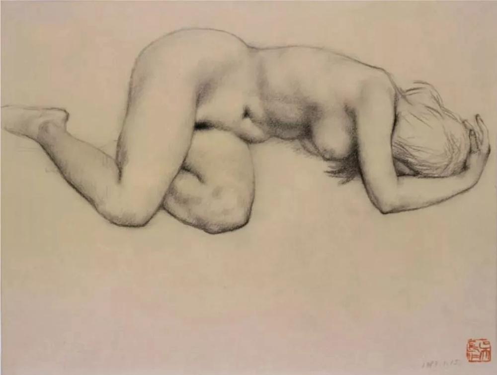 杭州艺考画室给你造型生动,百看不厌的62幅人体素描,12