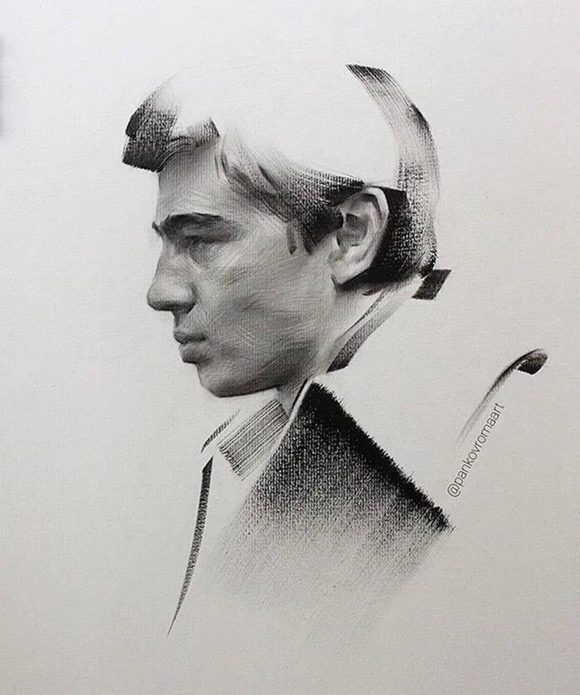 杭州艺考画室整理的一眼就爱的素描,这松动的笔触绝了,05