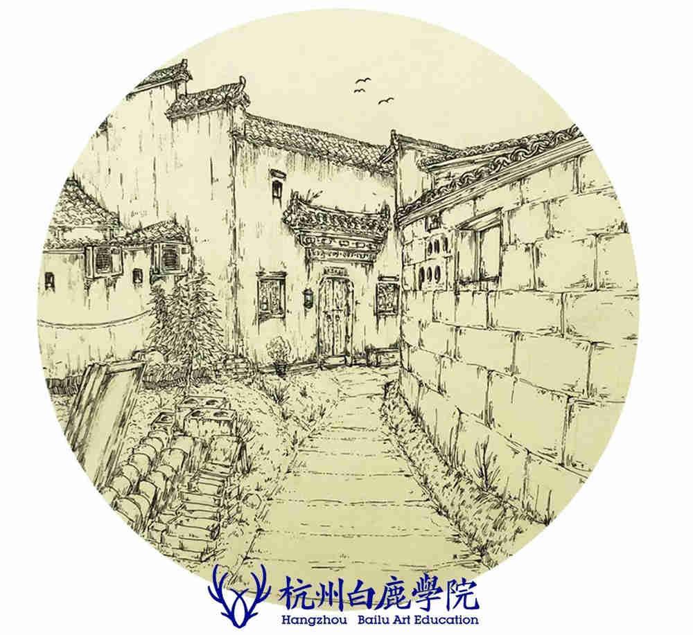 杭州艺考画室写生季 | 杭州白鹿学院下乡写生通知及注意事项,96