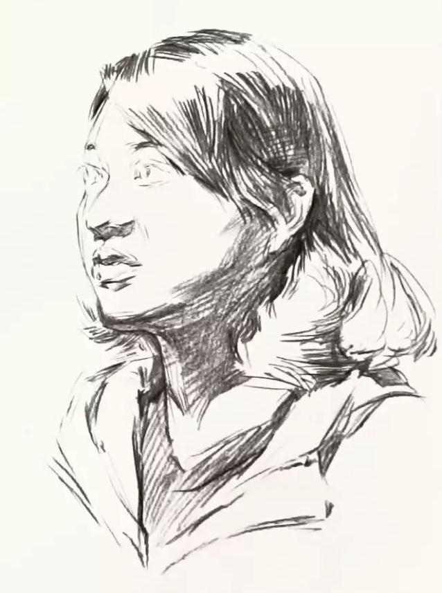 杭州艺考画室素描教学|教你画微胖女青年素描头像,04