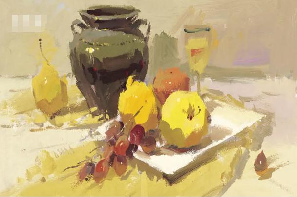 杭州艺考画室色彩静物教程:水果的暗部总是画得脏兮兮的,12