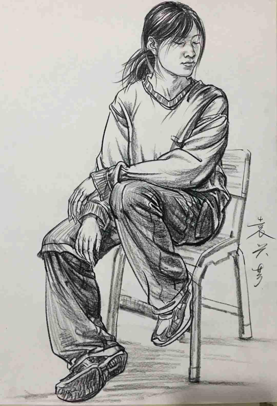 杭州画室集训班速写名师——袁兴芳作品集,28