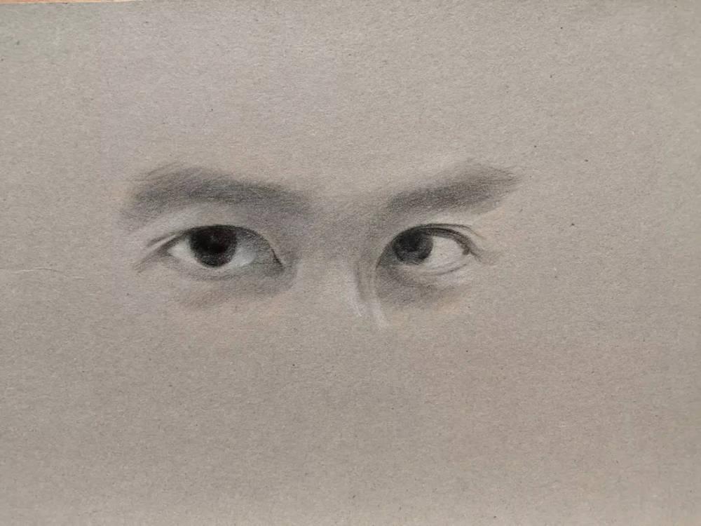 杭州艺考画室彩铅教程|画一双男神的眼睛,07