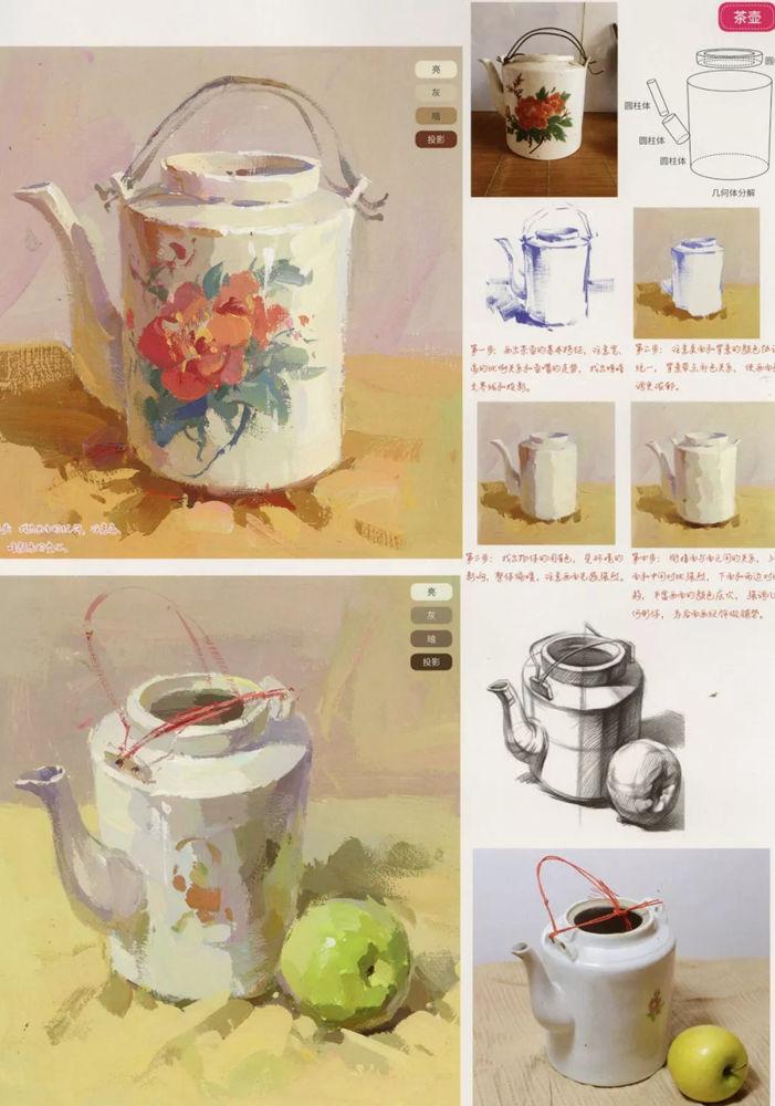 陶瓷、玻璃,金属这些难画的物品,杭州艺考画室给你解析,04