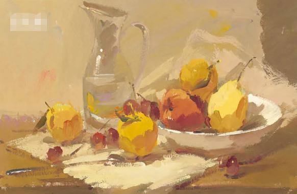 杭州艺考画室色彩静物教程:水果的暗部总是画得脏兮兮的,05