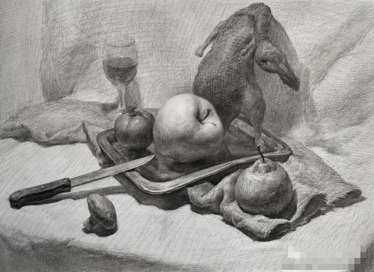 杭州艺考画室素描教程:素描关系是深入刻画的合理,09