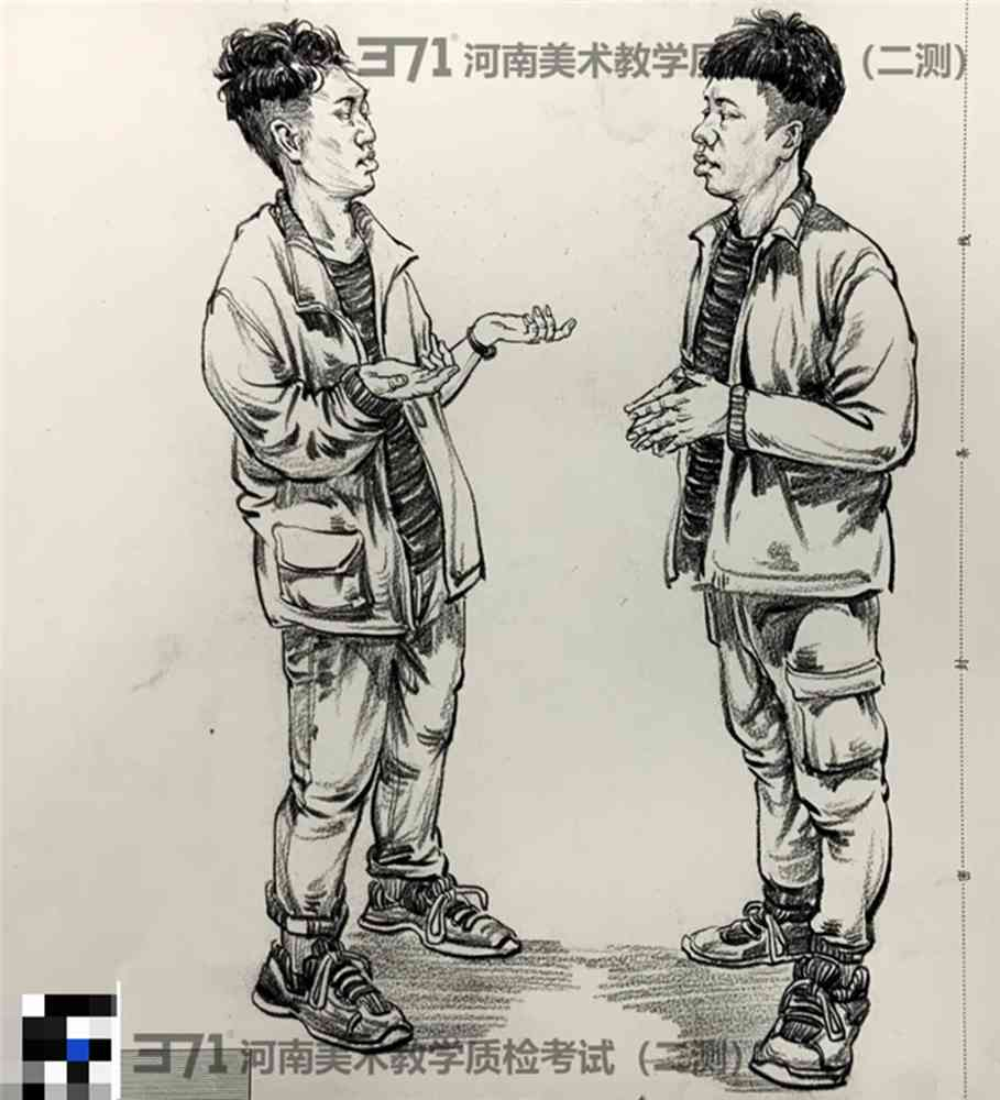 为更好的打磨自己,杭州画室集训班分享2021届河南省二模高分卷,04