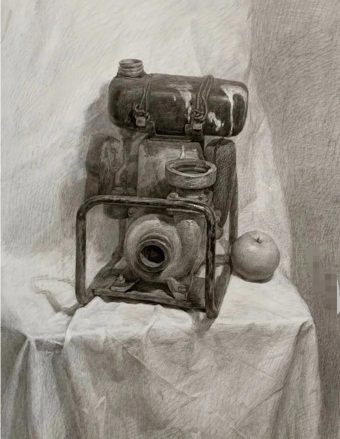 杭州艺考画室素描教程:素描关系是深入刻画的合理,10