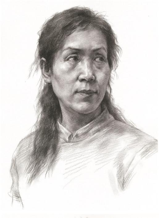 杭州艺考画室教你素描头像刻画之老中青的皮肤质感如何表现,07