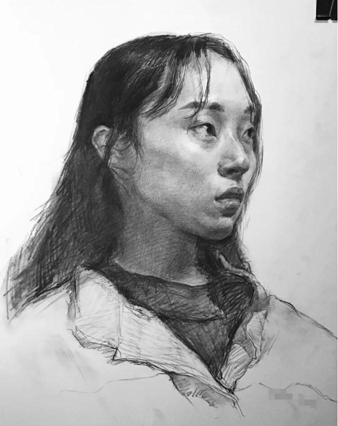 杭州艺考画室素描教程:素描关系是深入刻画的合理,15