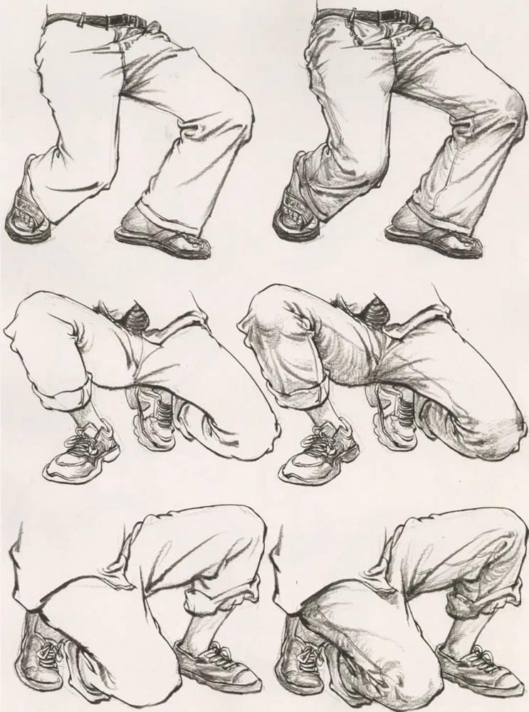 杭州艺考画室超强干货丨速写下肢怎么画?观察是关键,08