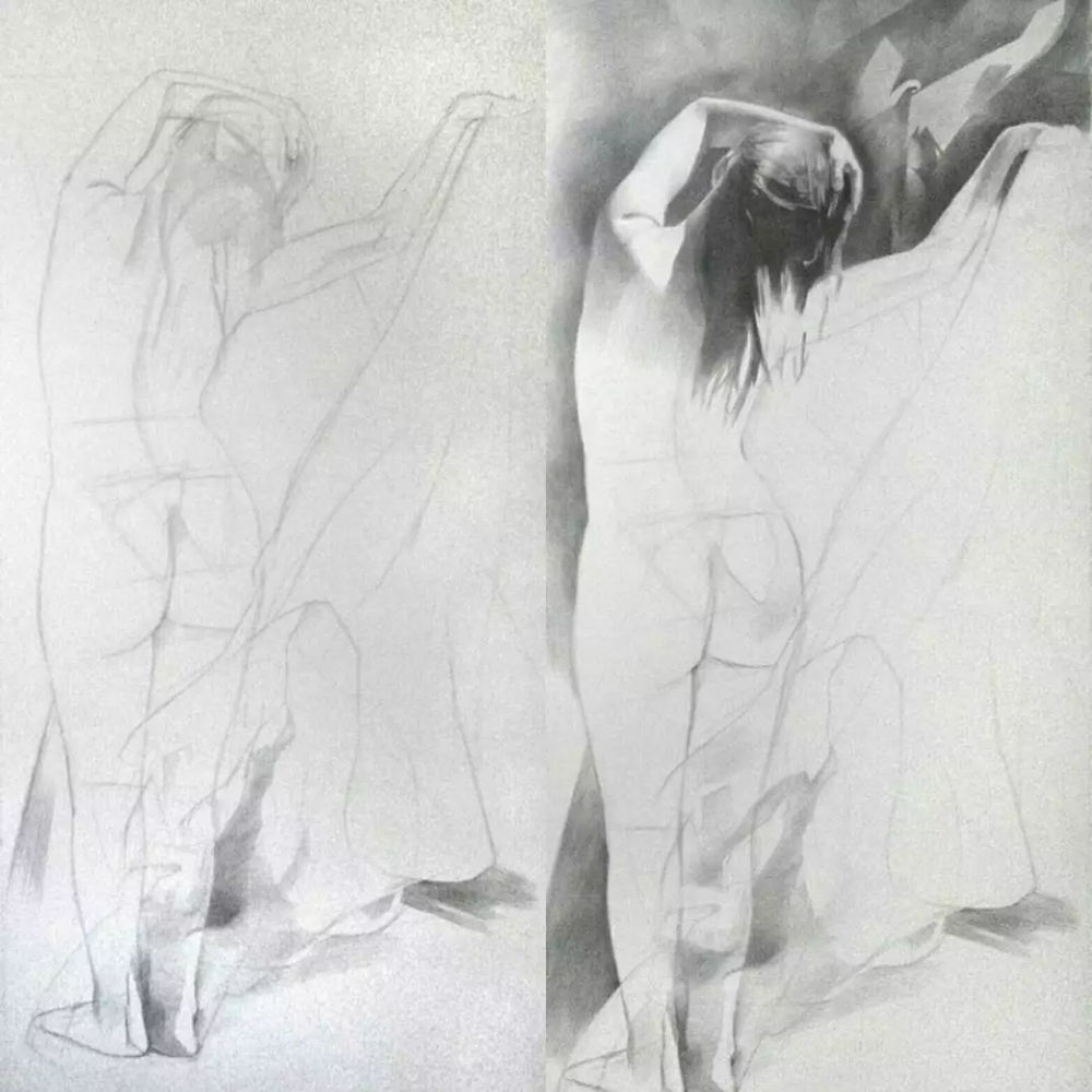 素描这样处理光影,很出彩,杭州艺考画室建议收藏,02