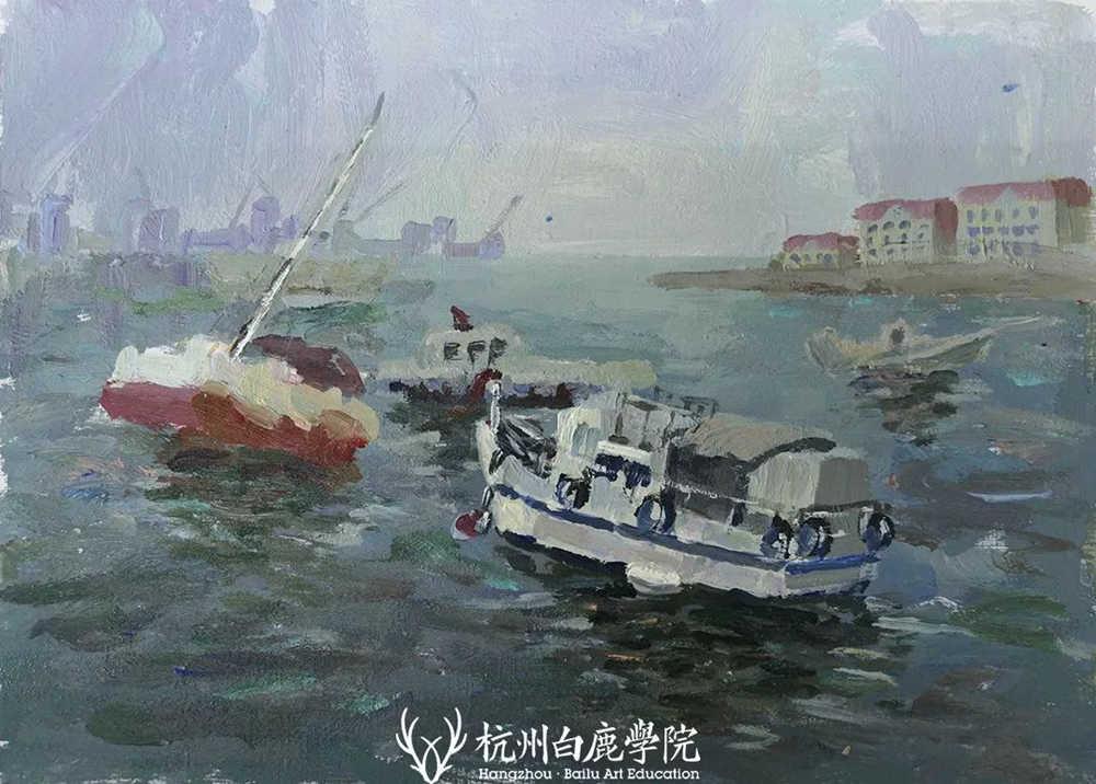 杭州艺考画室写生季 | 杭州白鹿学院下乡写生通知及注意事项,45