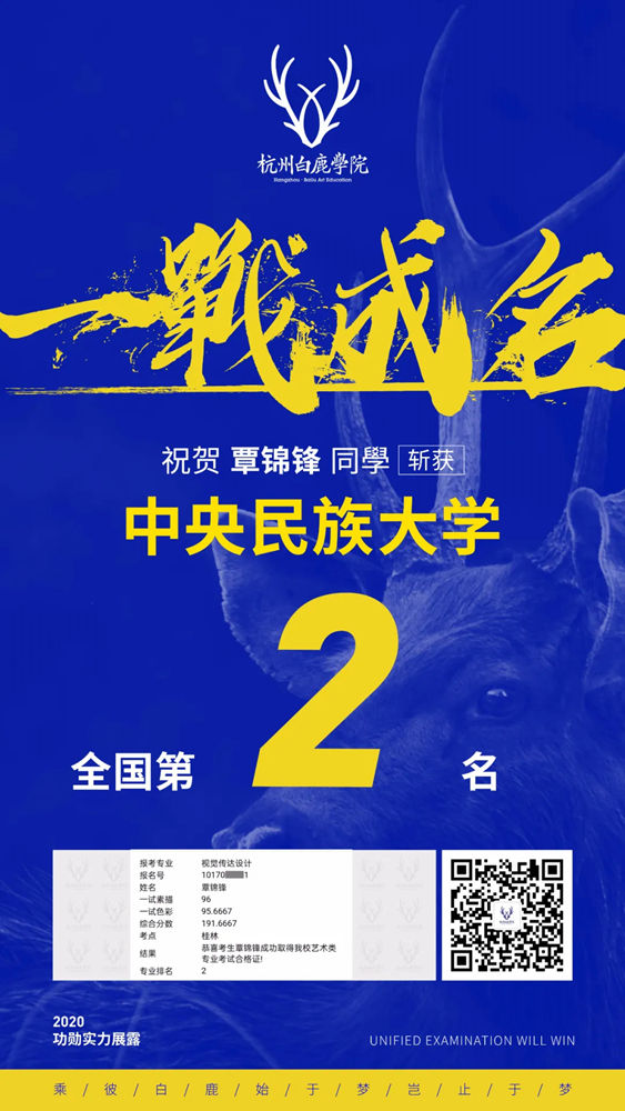 杭州白鹿校长班豪横霸榜,怒斩美院合格证王者荣归,28