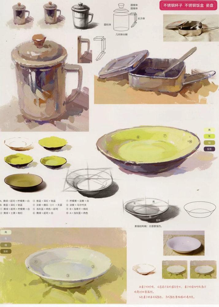 陶瓷、玻璃,金属这些难画的物品,杭州艺考画室给你解析,26