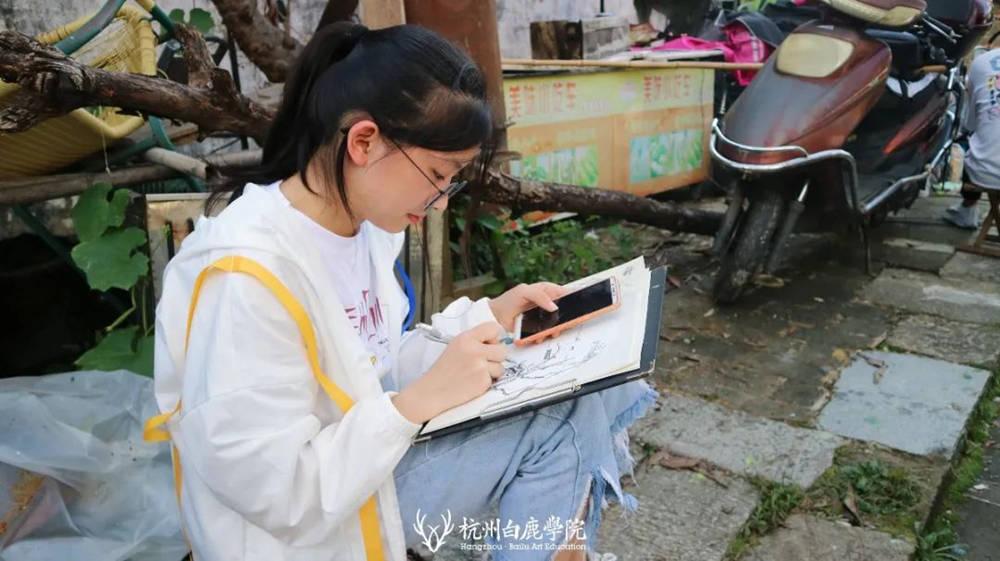杭州艺考画室白鹿写生季 | 秋天的第一场写生未完待续,51