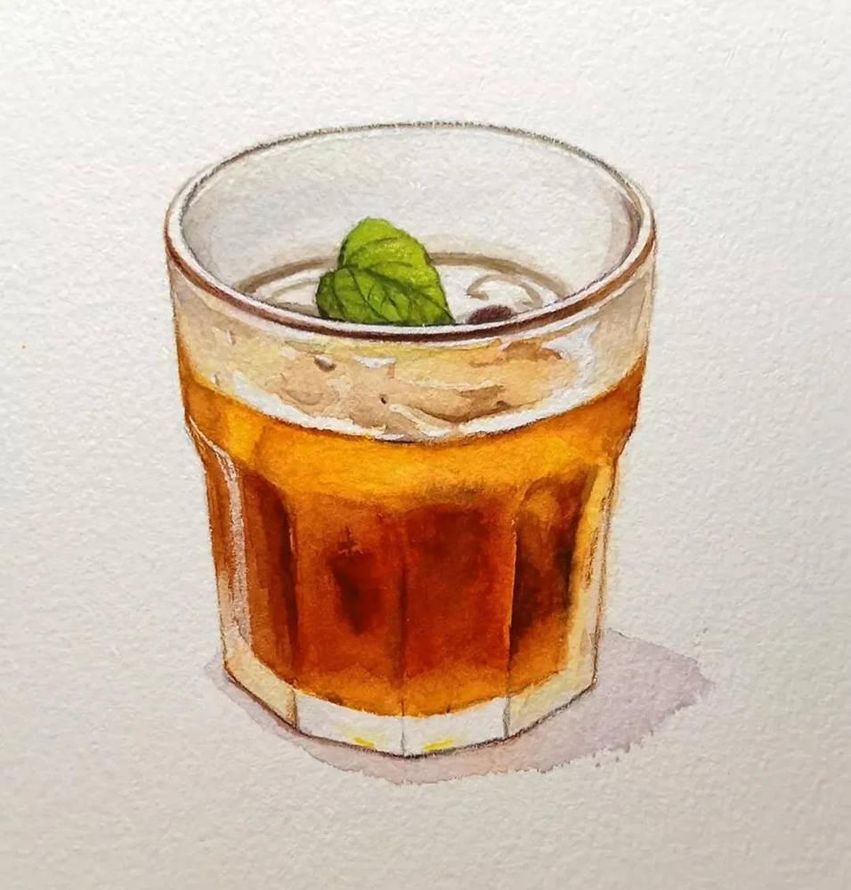 杭州艺考画室水彩教程 | 一杯沁人心扉的凉饮 画法步骤,09