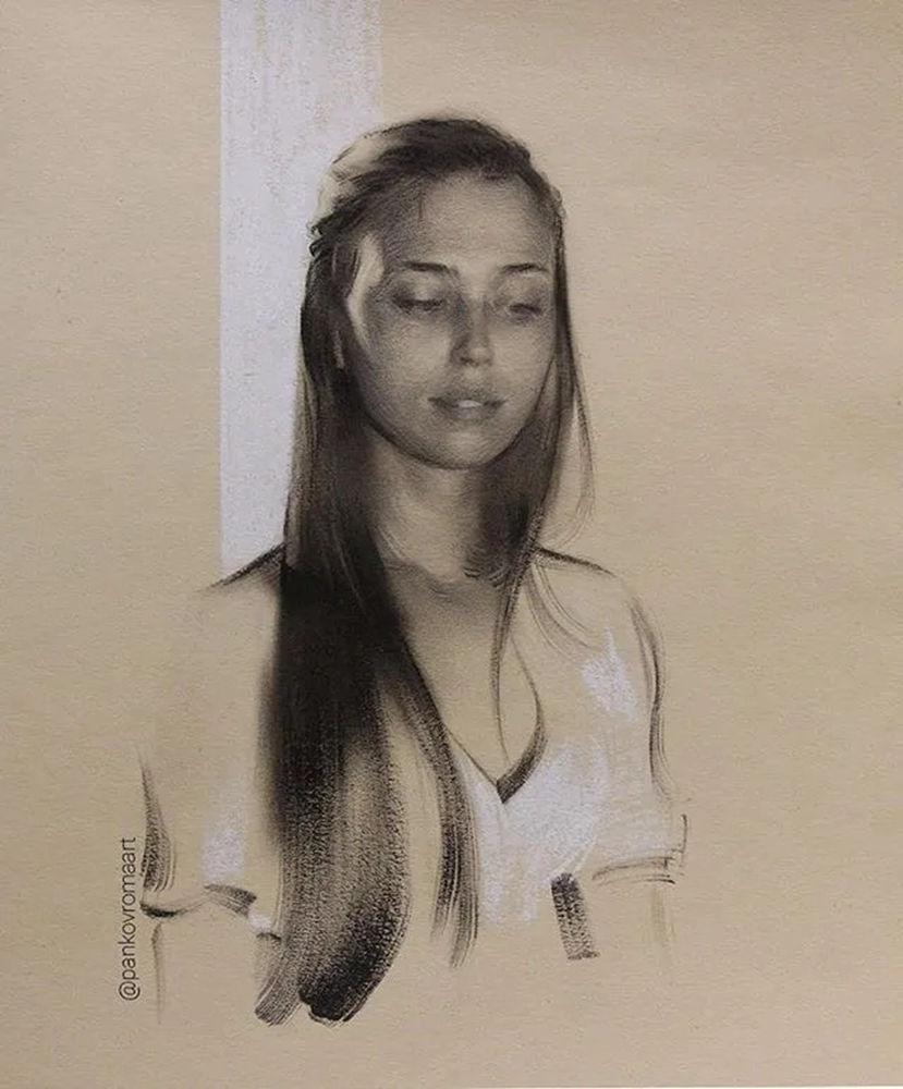 杭州艺考画室整理的一眼就爱的素描,这松动的笔触绝了,19