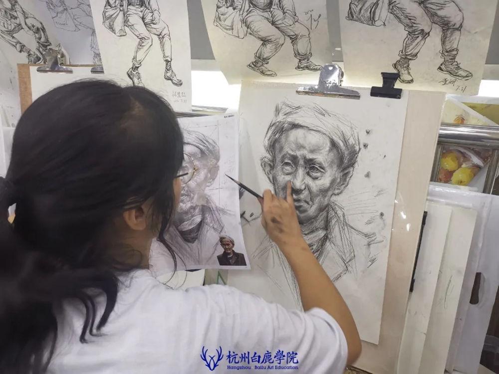 杭州艺考画室日常 | 你说美术生考大学很容易?要不你来试一试,30