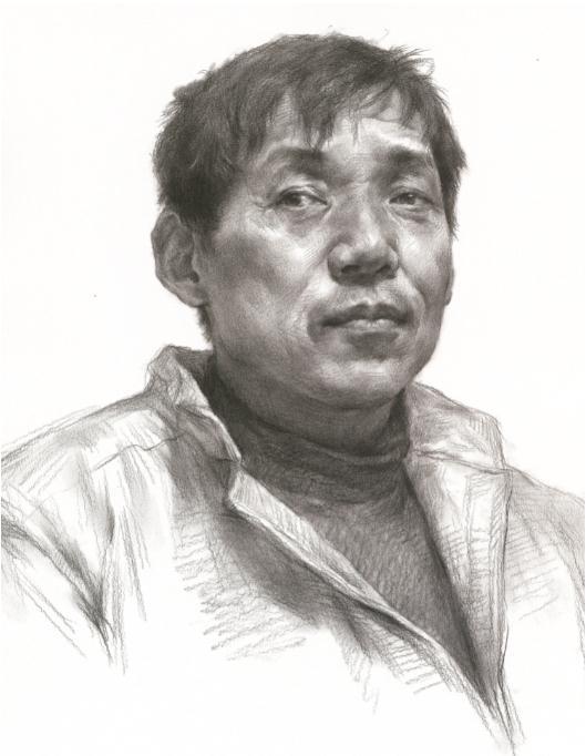 杭州艺考画室教你素描头像刻画之老中青的皮肤质感如何表现,05