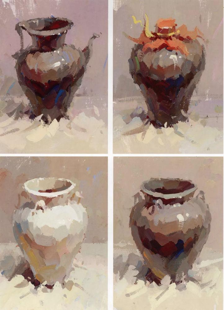陶瓷、玻璃,金属这些难画的物品,杭州艺考画室给你解析,10