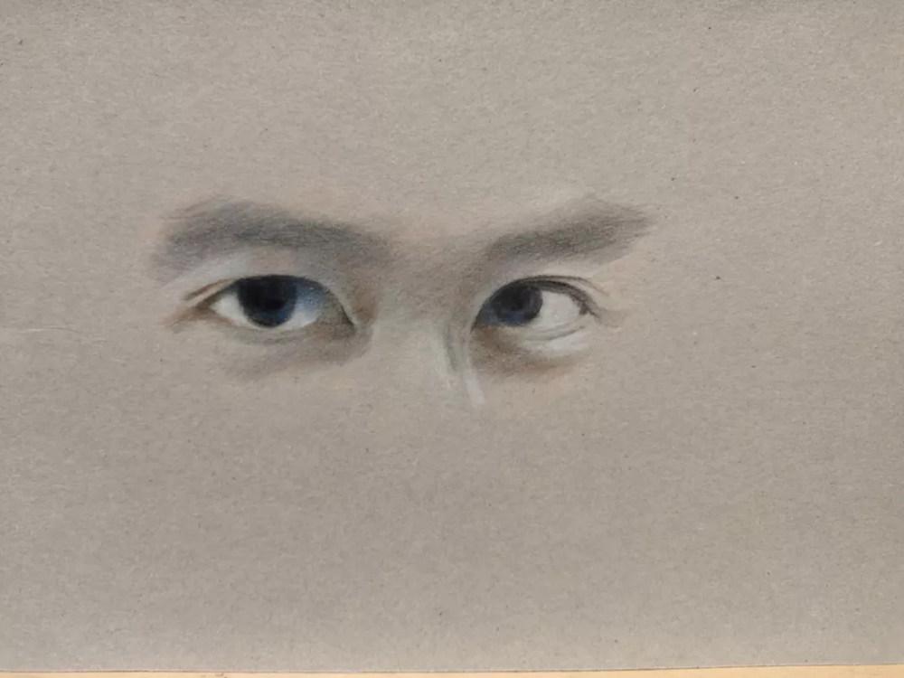 杭州艺考画室彩铅教程|画一双男神的眼睛,09