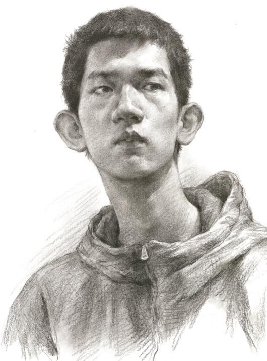 杭州艺考画室教你素描头像刻画之老中青的皮肤质感如何表现,10