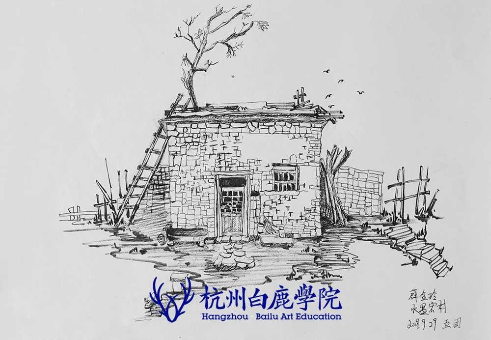 杭州艺考画室写生季 | 杭州白鹿学院下乡写生通知及注意事项,92