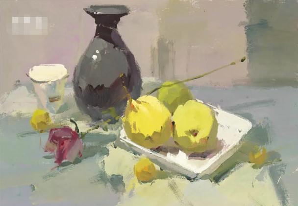 杭州艺考画室色彩静物教程:水果的暗部总是画得脏兮兮的,09