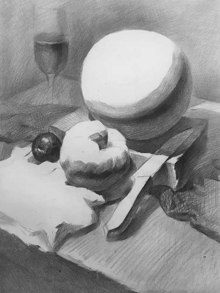 杭州白鹿画室,杭州画室,杭州素描美术培训,05
