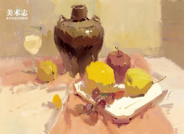 杭州艺考画室色彩静物教程:水果的暗部总是画得脏兮兮的,07