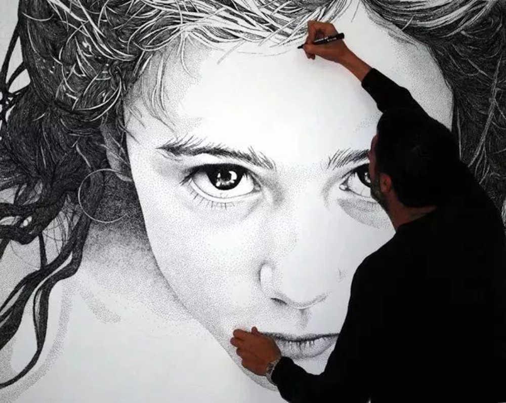 杭州艺考画室给你分享一幅素描人物需要花上100多万笔,09