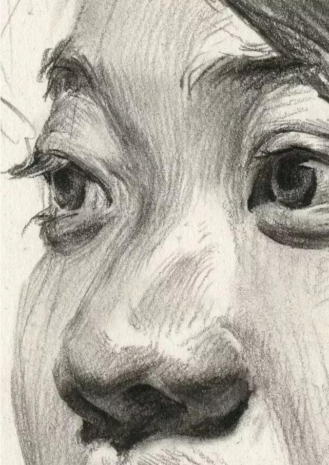 杭州艺考画室素描教学|教你画微胖女青年素描头像,12