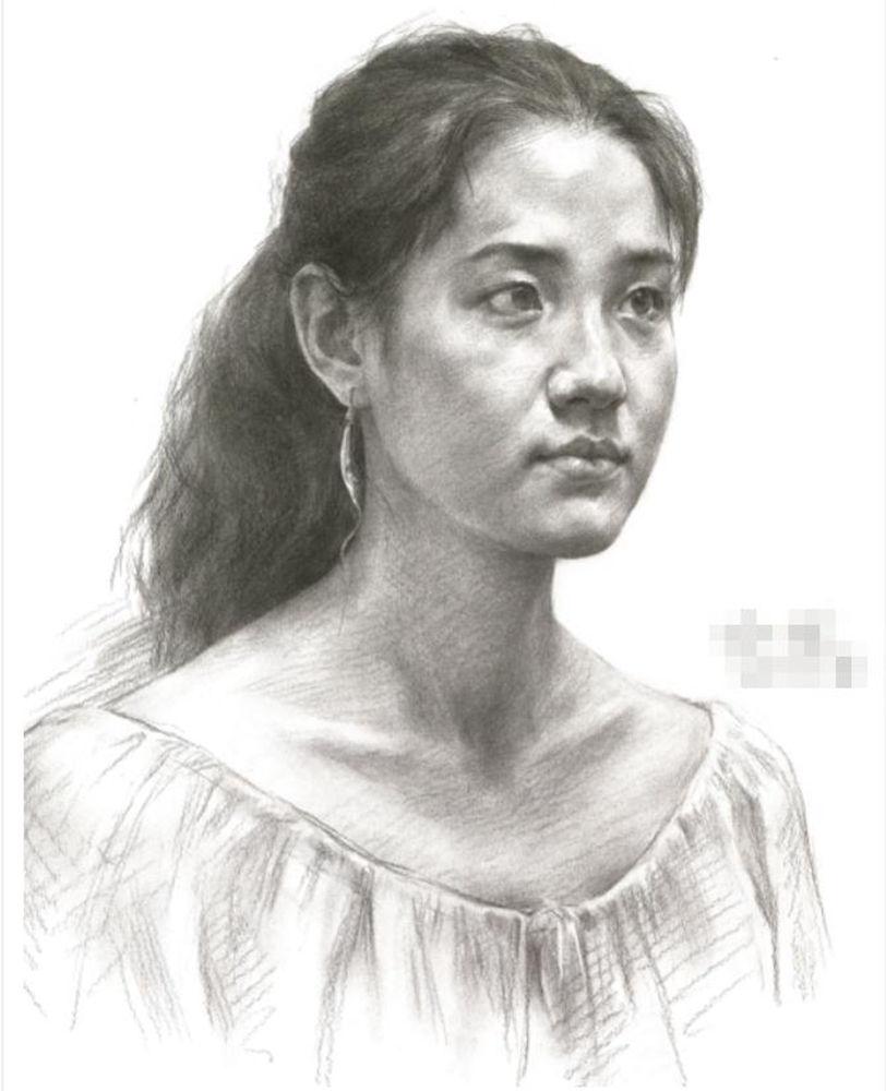 杭州艺考画室教你素描头像刻画之老中青的皮肤质感如何表现,12