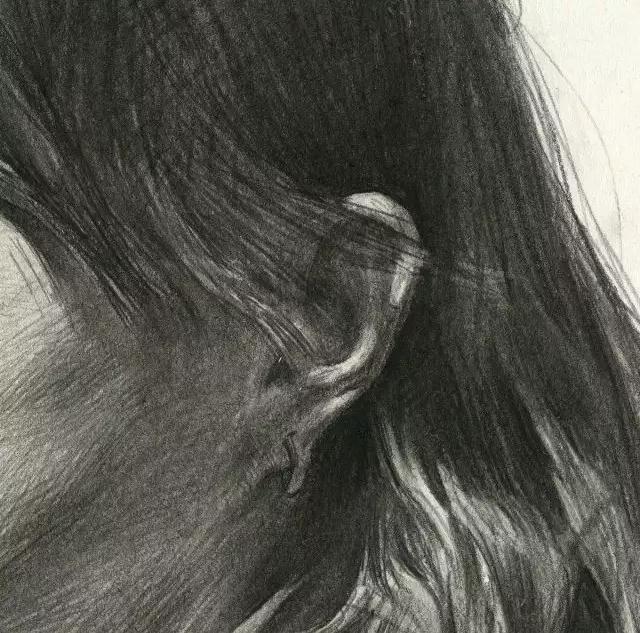 杭州艺考画室素描教学|教你画微胖女青年素描头像,14
