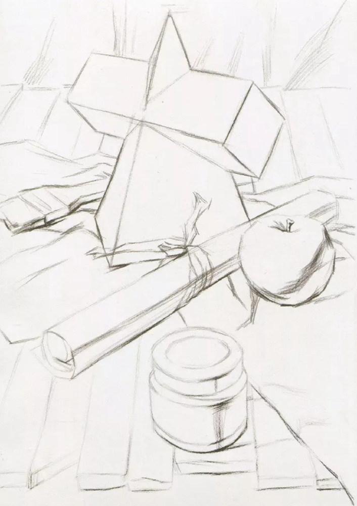 静物素描太难,杭州艺考画室整理的详细教程在里面,08