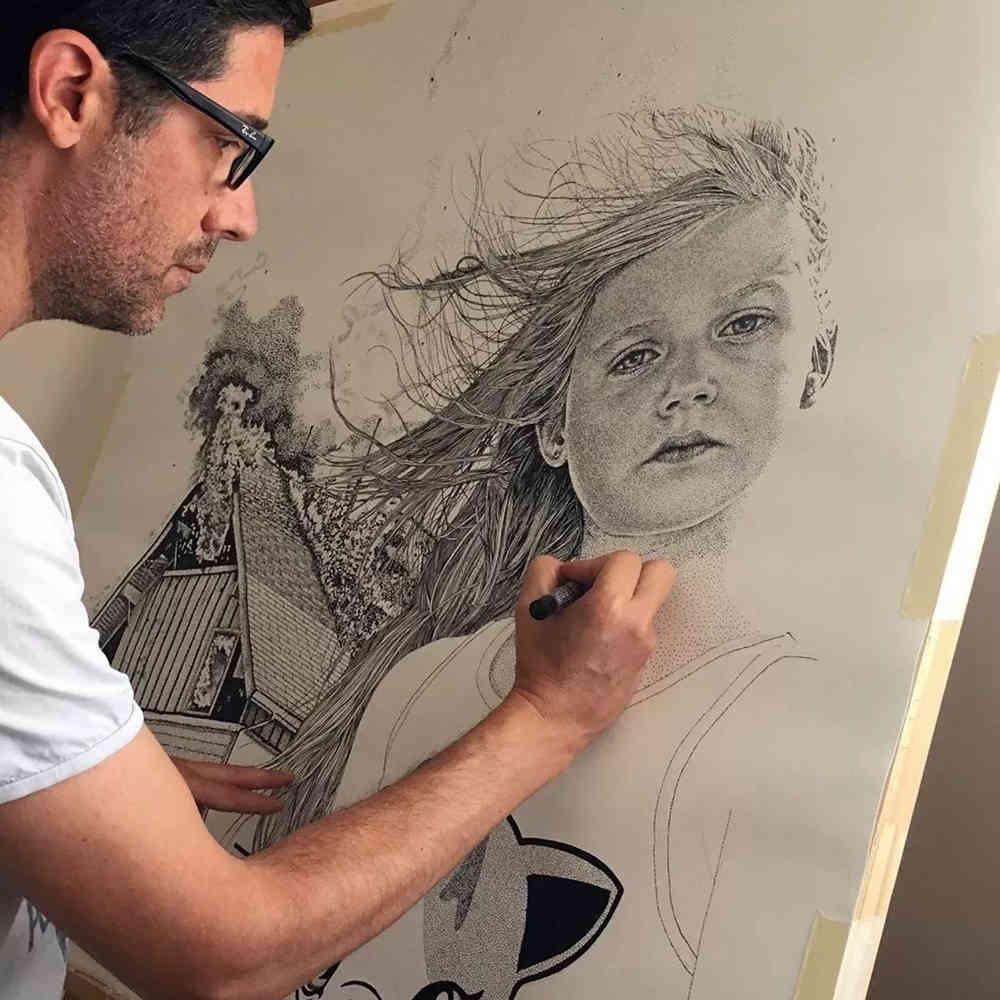 杭州艺考画室给你分享一幅素描人物需要花上100多万笔,03